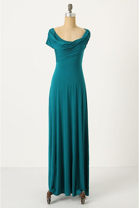 Irresistible Maxi Dress - Anthropologie.com :  cowl anthro jersey teal