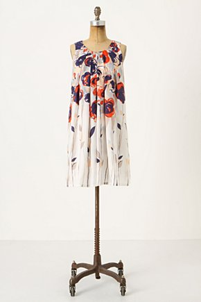 Garden Party Dress - Anthropologie.com :  party frock silk sleeveless poppy