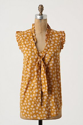Eastpointe Garden Top - Anthropologie.com :  floral ruffles top tie neck