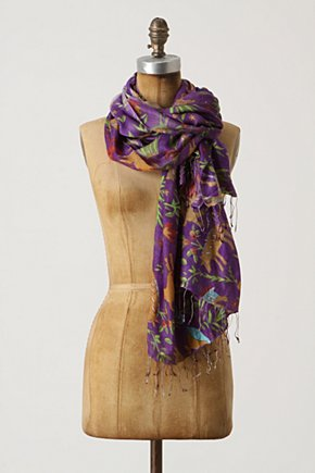 Fantastical Fauna Scarf - Anthropologie.com :  whimsical horse jungle inspired silk