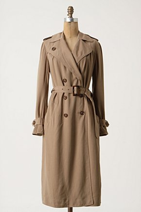 Stazione Trench - Anthropologie.com :  tencel neutral button closure belted