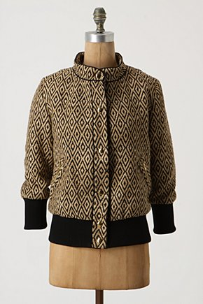 Diamonds Within Knit Bomber - Anthropologie.com :  bomber snaps cotton blend geometric