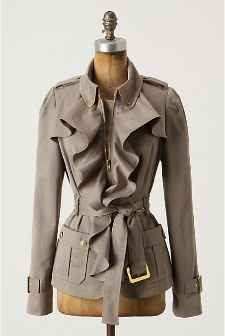 Femme Trench Jacket - Anthropologie.com :  jacket neutral trench front pockets