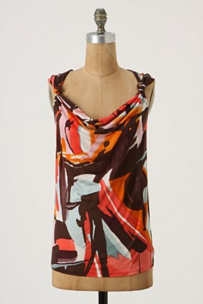 Cajoled Tank - Anthropologie.com :  abstract jersey rayon knot detail