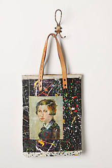 Original Still Life Bag, Paint Splash Portrait