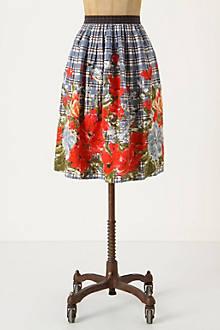 Picked Plaid Skirt