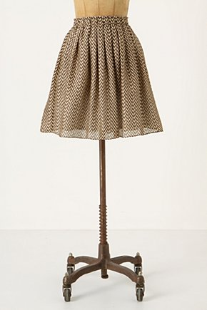 Languid Days Skirt - Anthropologie.com :  chevron brown summery skirt