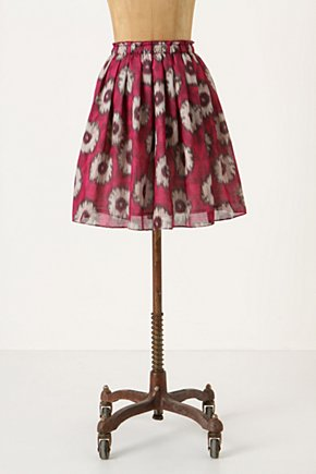 Languid Days Skirt - Anthropologie.com :  red summery flowers skirt