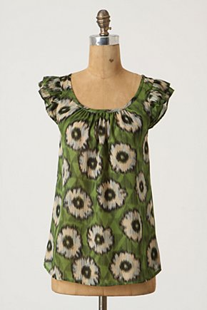 Springing Season Blouse - Anthropologie.com :  blouse silk pullover scoopneck
