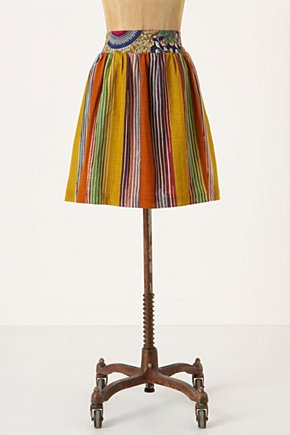 Amhara Skirt - Anthropologie.com :  cotton stripes colorful skirt