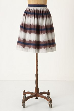 Inkwell Skirt - Anthropologie.com :  blue poufy ribbons applique