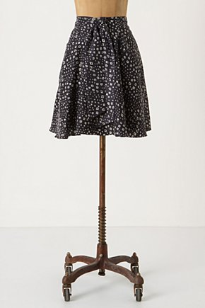 Diamond Sky Skirt - Anthropologie.com :  silk black and white draping diamond