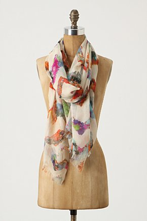 Blurred Chevron Scarf - Anthropologie.com :  artistic cashmere silk chevron