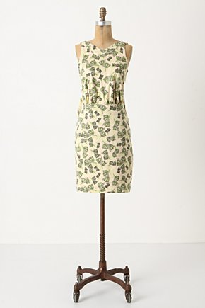 Ipanema Dress - Anthropologie.com :  oversized bow neutral sleeveless green
