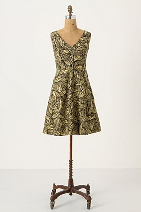 Emerging Leaves Dress - Anthropologie.com :  spring womens summer side pockets