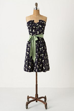 Sing Sweetly Party Dress - Anthropologie.com :  navy party dress lime sash