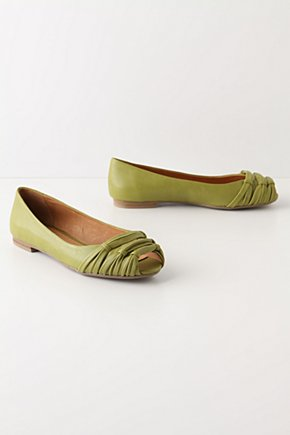 Sugar Snap Skimmers - Anthropologie.com :  leather peep toe skimmers lime