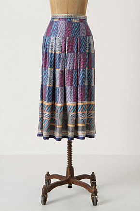 Fulani Patchwork Skirt - Anthropologie.com :  flowy patchwork geometric colorful
