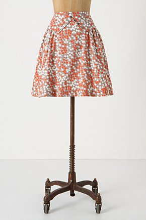 Lapel Skirt - Anthropologie.com :  lapel red and white buttoned grey