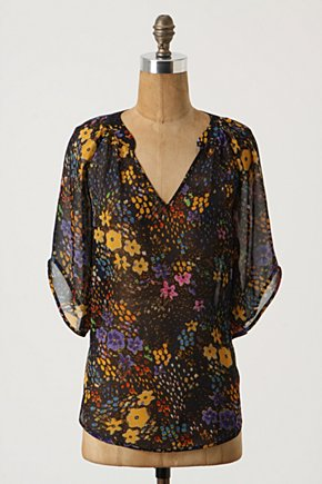 Silk Blooms Eternal Top - Anthropologie.com :  dolman sleeves printed silk tunic