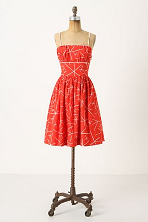 Nostalgic Asterisks Dress - Anthropologie.com :  cherry cheery cotton retro inspired