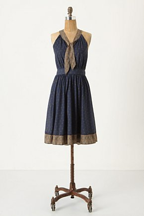 Winsor Knot Dress by Deletta - Anthropologie.com :  a line retro fitted waist diamond print