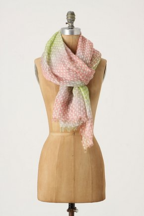 Fade & Set Scarf - Anthropologie.com :  pink linen blend silk blend breezy