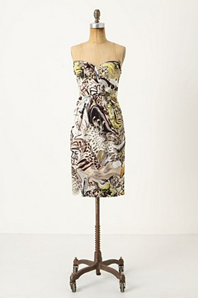 Panther's Play Dress - Anthropologie.com :  jungle inspired sweetheart top sateen fierce