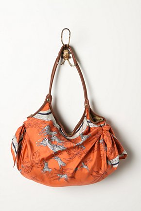 Nomad Scarf Bag - Anthropologie.com :  silk scarf print carryall