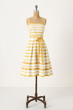 Sun Shades Dress - Anthropologie.com :  party frock yellow side pockets creamy