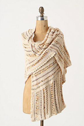 Rusted Ribbons Poncho - Anthropologie.com :  poncho copper flowy neutral