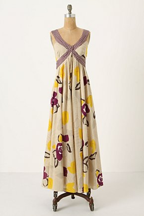 Botanical Crossway Dress - Anthropologie.com :  floral abstract sunny purple