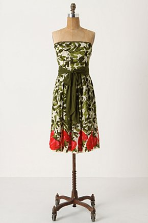 Berry Months Dress-Anthropologie.com :  fruit watercolor summery side pockets