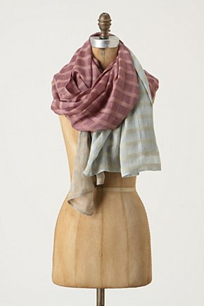Glinting Windowpanes Scarf - Anthropologie.com :  silk purple airy scarf