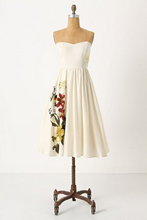 Summer Souffle Dress - Anthropologie.com :  summer dress voile creamy flounce