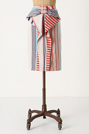 Americana Skirt - Anthropologie.com :  oversized bow red flouncy stripes