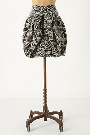 Draped Jungle Skirt - Anthropologie.com :  patterned wrapped geometric jacquard