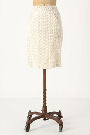 Latticed Weekend Skirt - Anthropologie.com :  lace front pocket skirt