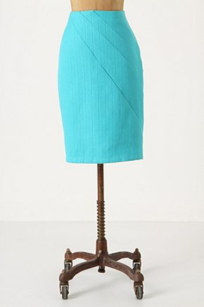 San Pedro Pencil Skirt - Anthropologie.com :  cheery yellow folds pencil skirt