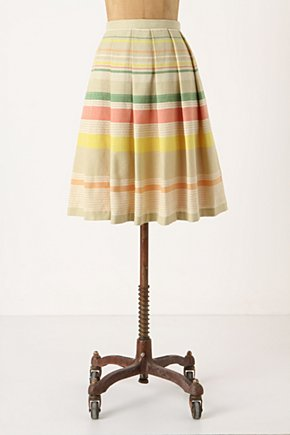 Ardennes Skirt - Anthropologie.com :  pink summery yellow pleats