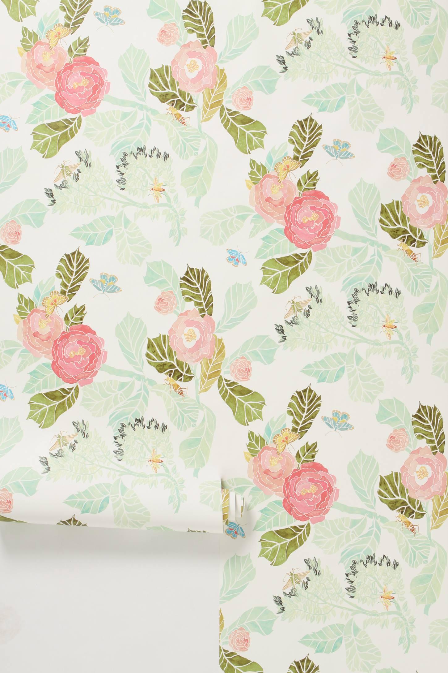 Watercolor Flora Wallpaper Image