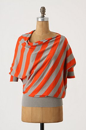 Orchard Grove Pullover  - Anthropologie.com :  pullover stripes orange breezy