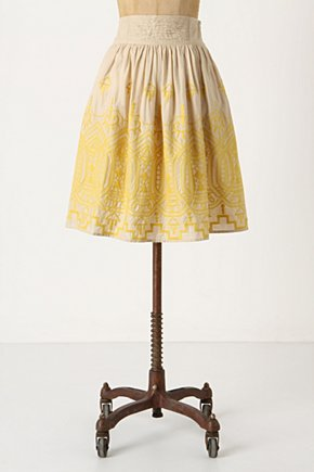 Sun-Stitched Skirt - Anthropologie.com :  embroidery neutral sunny voile