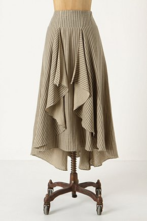 Windswept Prairie Skirt - Anthropologie.com :  stripes western inspired breezy grey