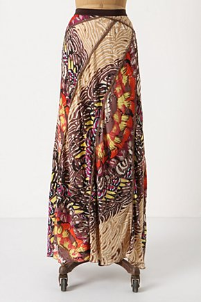 Fluttering Patchwork Skirt - Anthropologie.com :  fluttery patchwork silk orange