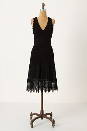 Crocheted Tank Dress - Anthropologie.com :  stitching sleeveless crocheted little black dress