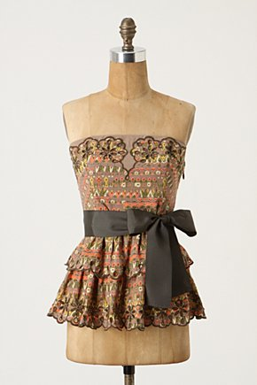 Eyeleted Corset Top - Anthropologie.com :  corset top eyelet colorful tiered