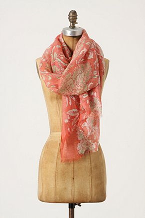 Paisley Fronds Scarf - Anthropologie.com :  linen blend silk blend gauzy swirly