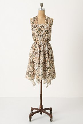 Drifting Lilies Dress - Anthropologie.com :  green handkerchief hem pullover lily