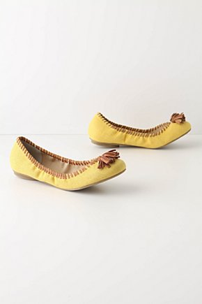 Daffodil Skimmers  - Anthropologie.com :  tassels daffodil leather sunny